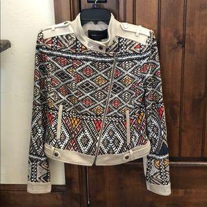 Bcbg maxazria tan/print  jacket